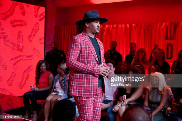 J Bolin walks the runway as Cheetos unveiled faninspired versions of the #CheetosFlaminHaute look at The House Of Flamin' Haute Runway Show Style Bar...