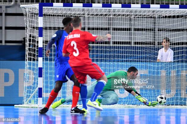 Bolinha of Azerbaijan scores during the UEFA Futsal EURO 2018 group D match  between France v 2c3383131e76c