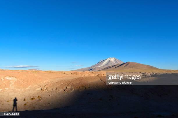 Bolivia Departamento de Potosí Nor Lípez The jeep safari leads from the Salar de Uyuni to the BolivianChilean border through the AltiplanoAm path...
