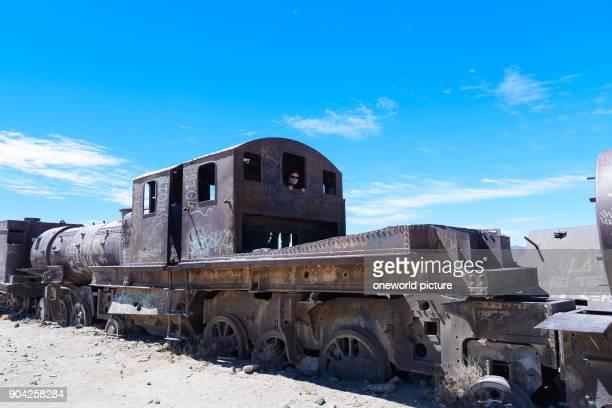 Bolivia Departamento de Potosí Uyuni In Uyuni there is the legendary train cemetery