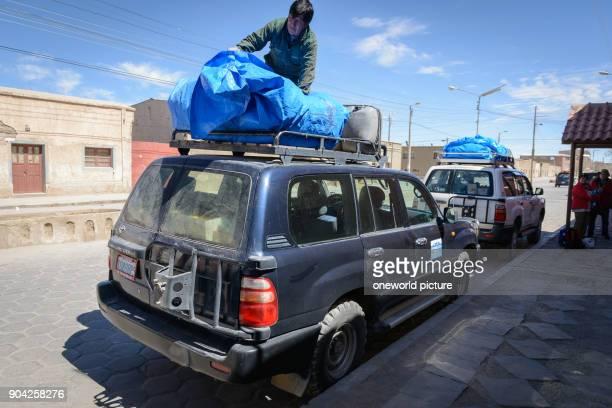 Bolivia Departamento de Potosí Uyuni preparations for the journey through the Salar de Uyuni