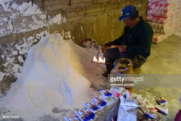 Bolivia Departamento de Potosí Uyuni salt is bottled