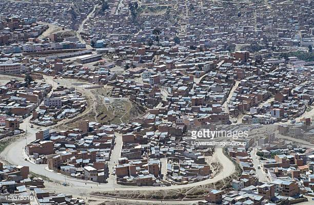 Bolivia La Paz La Paz Is One Of The Fastest Growing Cities In The Worls 80% Of Homes Are Without Piped Water Or Basic Services Aerial View Of The City