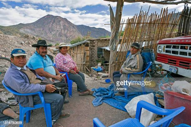Bolivian farmers in the village Tocloca near Tupiza, Sud Chichas Province, Potosí Department, Bolivia.