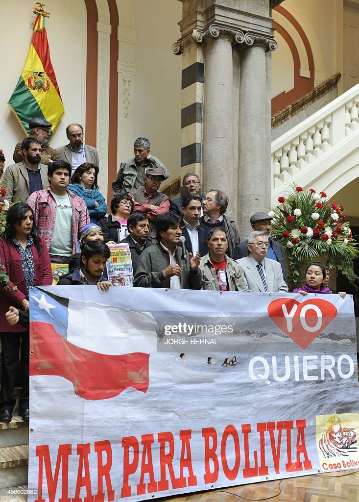 BOLIVIA-CHILE-SEA-MORALES : News Photo