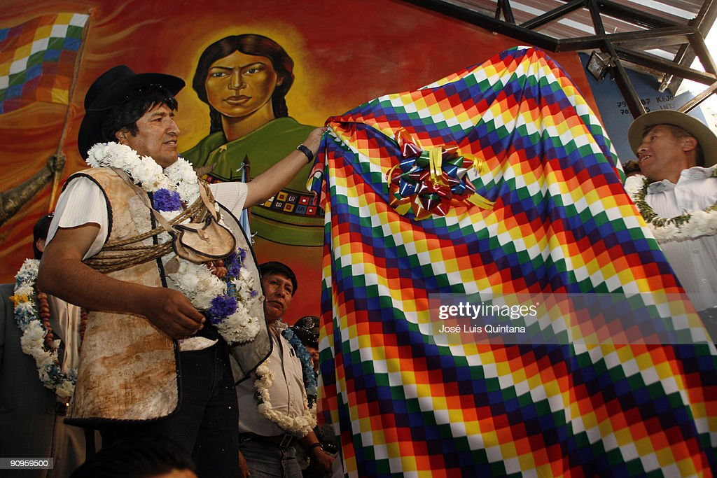 Evo Morales Innaugurates New Rural Workers Union's Headquarters : News Photo
