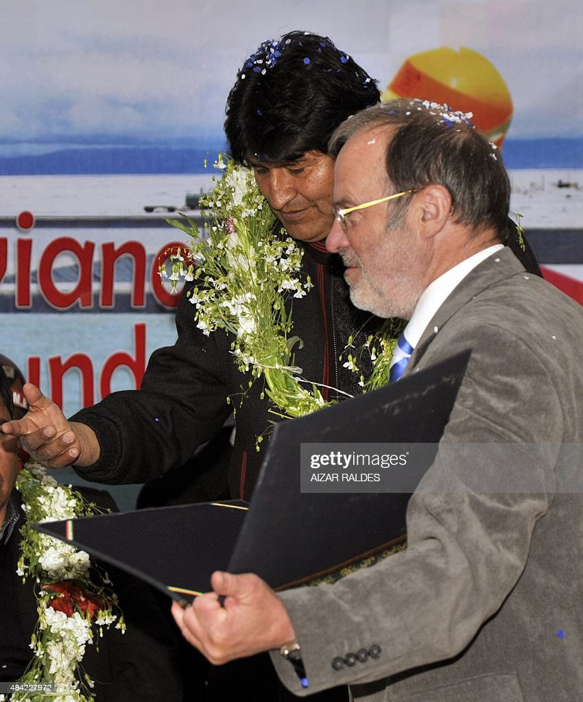 BOLIVIA-GERMANY-LITHIUM-PLANT-MORALES : Nachrichtenfoto
