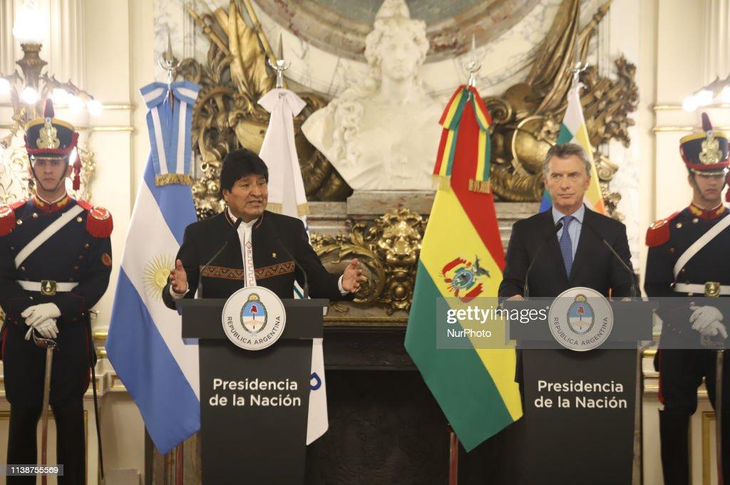 ARG: President Of Bolivia Evo Morales In Argentina