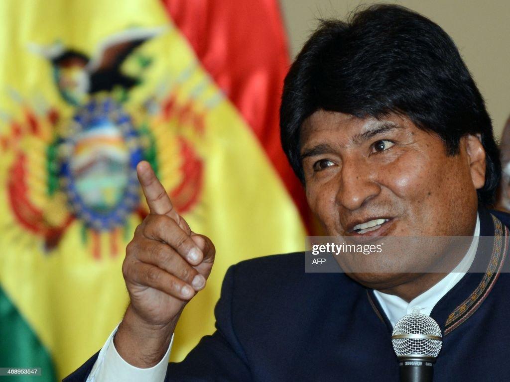 BOLIVIA-PERU-MORALES : News Photo