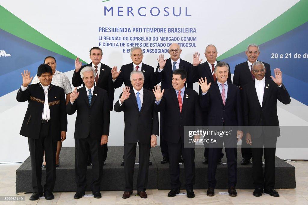 BRAZIL-MERCOSUR-SUMMIT : News Photo