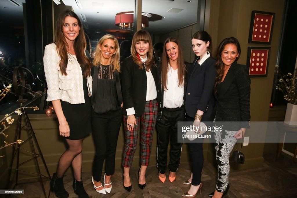 marvelous smythe designer #3: Bollare principal Alle Fister, designer Andrea Lenczner, actress Sophia  Bush wearing SMYTHE, designer