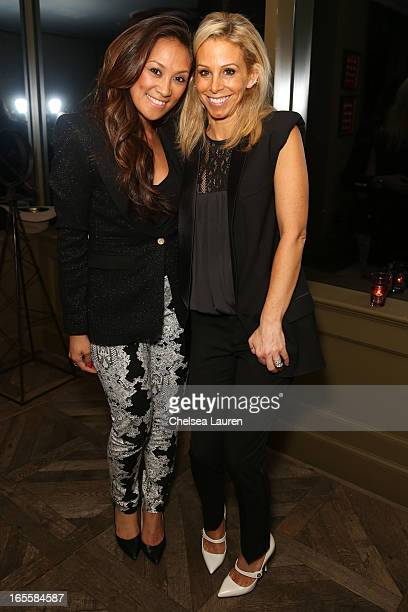 Bollare West coast director Aileen Ablaza and designer Christie Smythe attend the SMYTHE Spring 2013 Dinner Hosted By Designers Andrea Lenczner And...