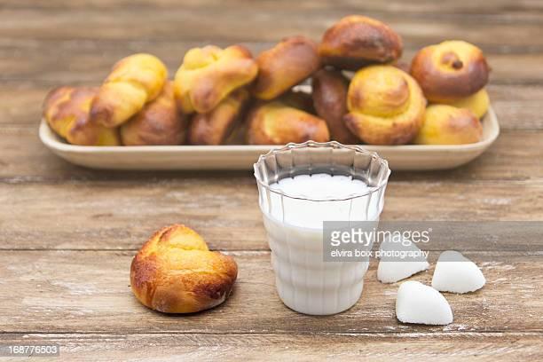 Bollitos de calabaza y leche condensada