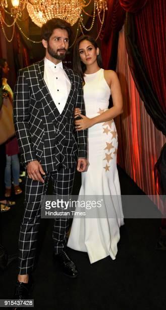 Bollwood actor Shahid Kapoor with wife Mira Rajput during Hindustan Times India's Most Stylish Awards 2018 at Yash Raj Studios Andheri on January 24...