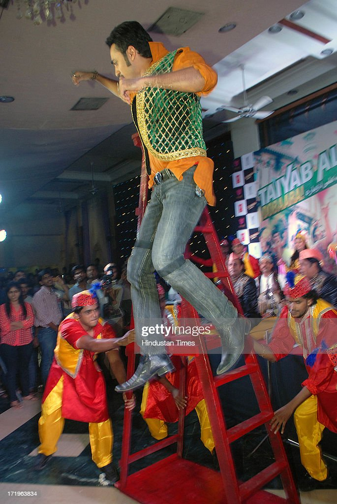 Bollywod actor Imran Khan performs during the launch of song Tayyab Ali for the movie Once Upon a Time in Mumbaai Dobara at Dongri on June 28 2013 in.