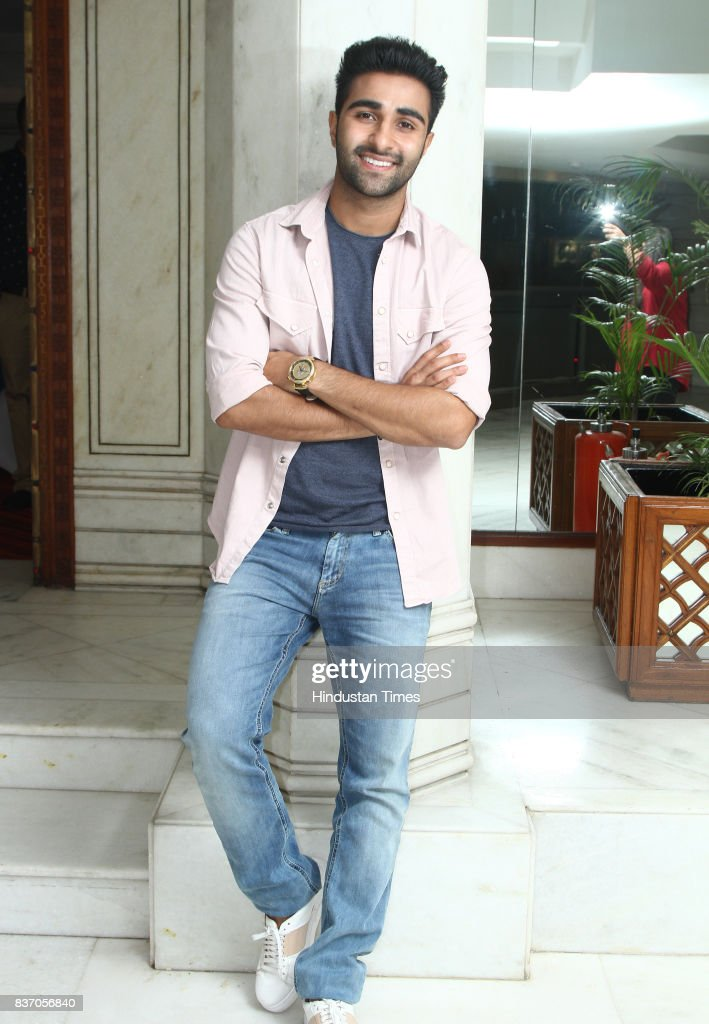 Bollywood actor Aadar Jain poses during an interview at Hotel Le Meridien, on August 16, 2017 in New Delhi, India.