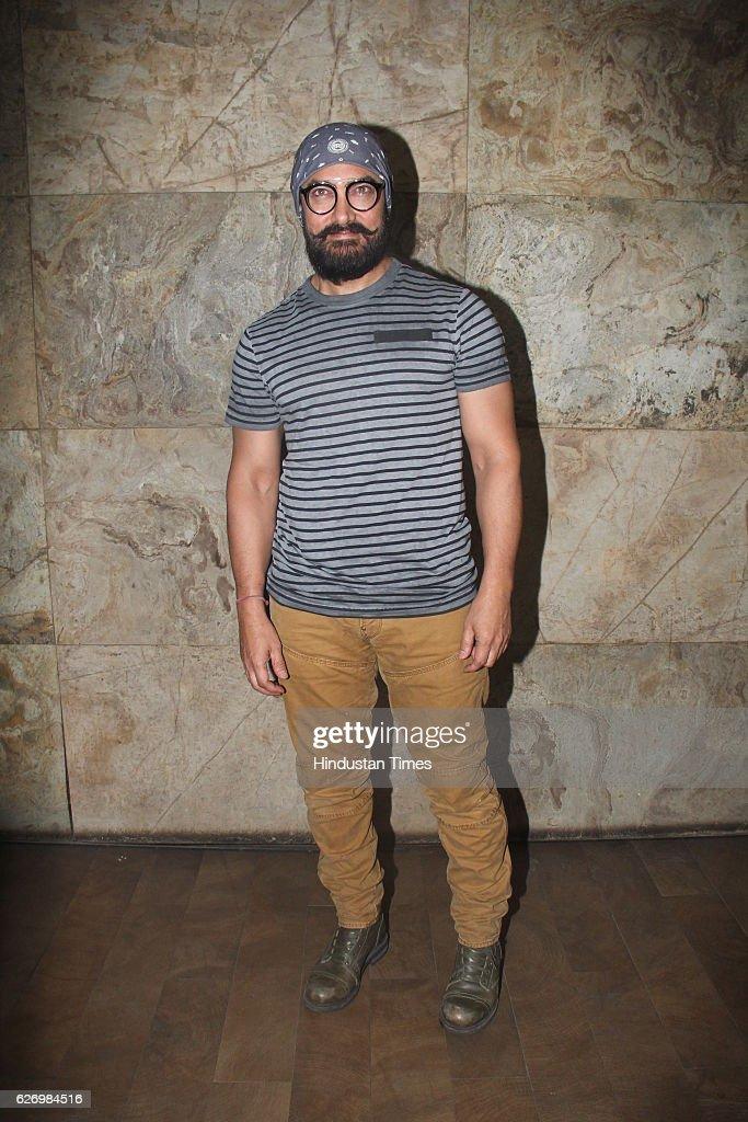 Aamir Khan Hosts Screening Of Making Of Film Dangal : News Photo
