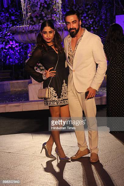 Bollywood actor Aashish Chaudhary during the Lakme Fashion Week Winter Festive 2016 on August 24 2016 in Mumbai India