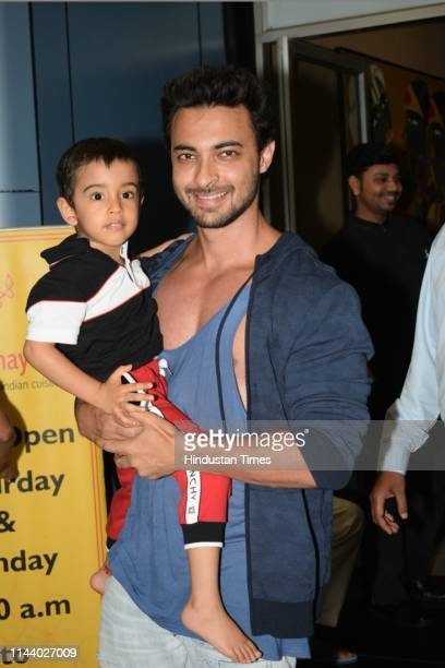 Bollywood actor Aayush Sharma spotted on May 8 2019 in Mumbai India