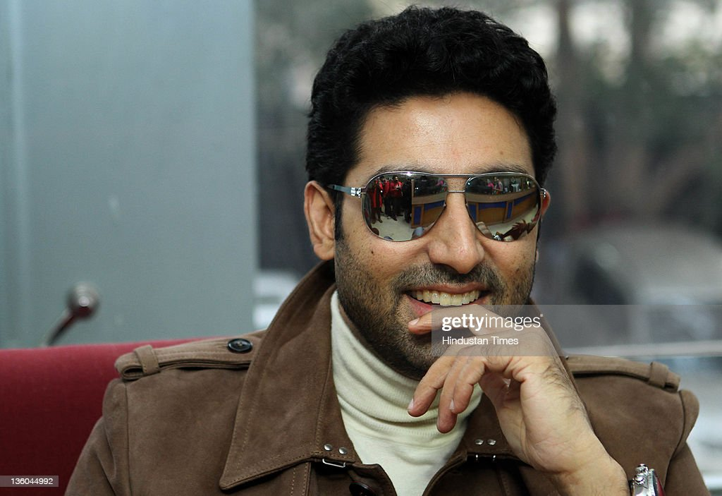 Bollywood actor Abhishek Bachchan is sighted at HT House in New Delhi, India on December 20, 2011.