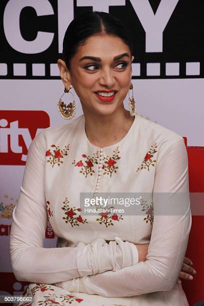Bollywood actor Aditi Rao Hydari during an exclusive interview with HT CityHindustan Times for the promotion of her upcoming movie Wazir at HT Media...