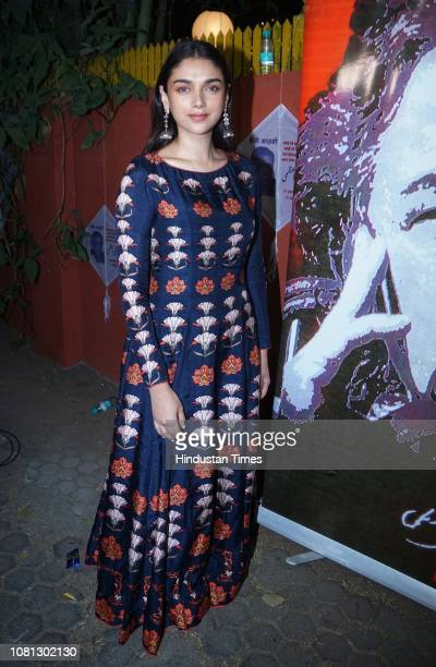 Bollywood actor Aditi Rao Hydari spotted on January 10 2019 in Mumbai India
