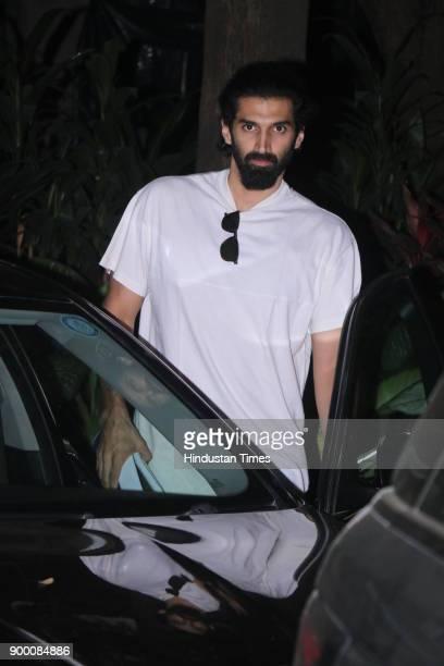 Bollywood actor Aditya Roy Kapoor spotted at Bandra on December 28 2017 in Mumbai India