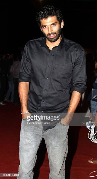 Bollywood actor Aditya Roy Kapur at Press conference of upcoming film Aashiqui 2 at Laxmi Studious Film City on April 15 2013 in Noida India