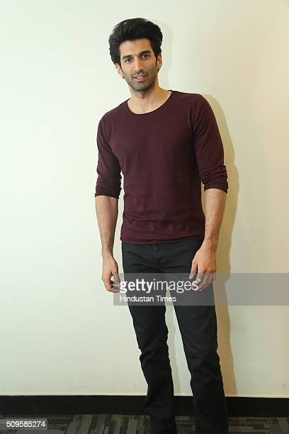 Bollywood actor Aditya Roy Kapur during an interview for the promotion of his upcoming film Fitoor at HT Media Office on February 3 2016 in New Delhi...