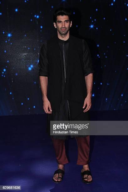 Bollywood actor Aditya Roy Kapur visits the set of Indian Idol Season 9 at Film City Goregaon on December 12 2016 in Mumbai India