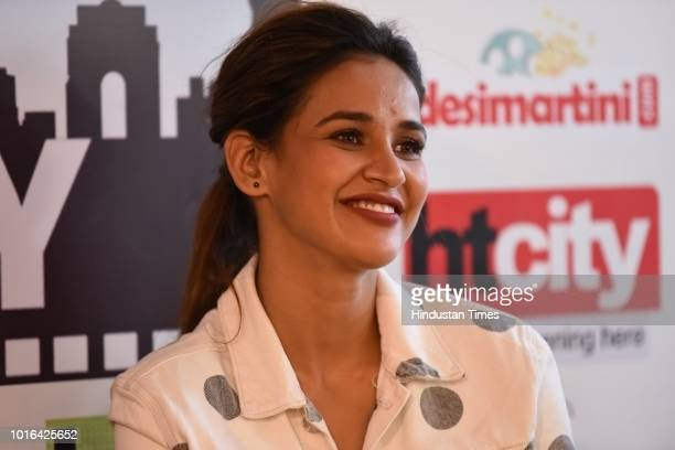 Bollywood actor Aisha Sharma during an exclusive interview with HT CityHindustan Times for the promotion of upcoming movie 'Satyameva Jayate' as part...