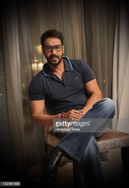 Bollywood Actor Ajay Devgn attends the music launch of his upcoming movie Tezz on March 30 2012 in New Delhi India The action thriller movie directed...