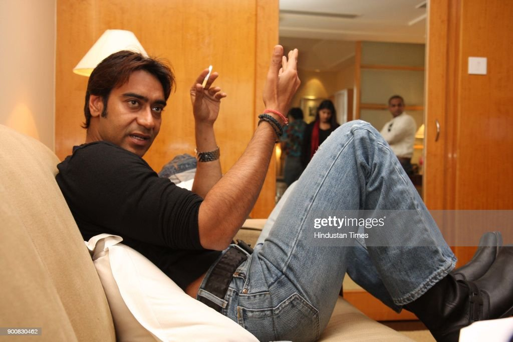 Bollywood actor Ajay Devgn during the photoshoot at Grand Hotel on January 8, 2008 in New Delhi, India.