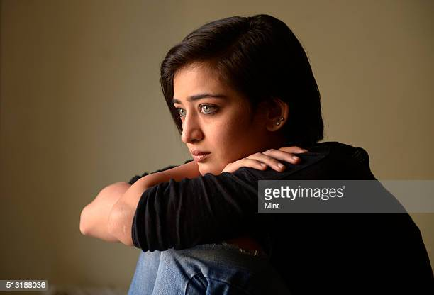 Bollywood actor Akshara Haasan poses for a profile shoot on January 17 2015 in Mumbai India