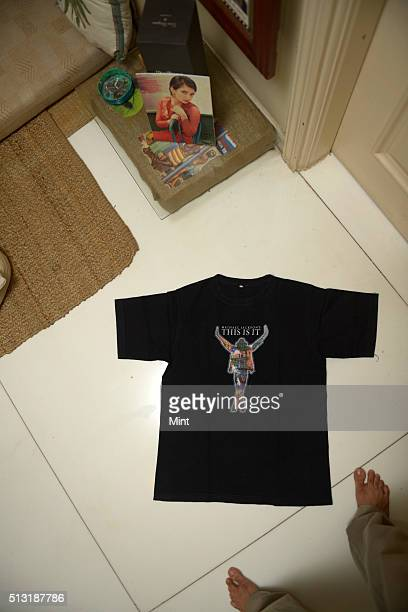 Bollywood actor Akshara Haasan's Michael Jackson Tshirt during her profile shoot on January 17 2015 in Mumbai India