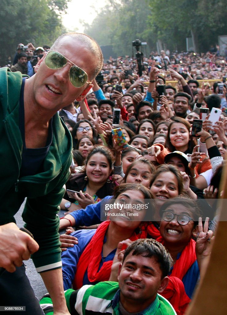 Bollywood actor Akshay Kumar At Women Marathon To Raise A Voice Against The Tax On Sanitary Napkins