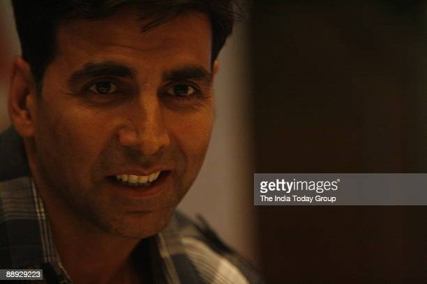 Bollywood actor Akshay Kumar at the press conference of his upcoming film 'Namastey London' at LeMeriden hotel New Delhi on 19th March '07