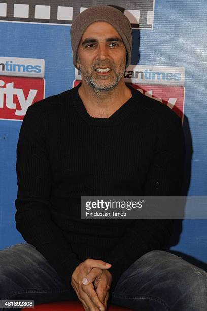 Bollywood actor Akshay Kumar during an exclusive interview with HT City Hindustan Times to promote his upcoming movie Baby at HT Media Office on...