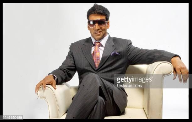Bollywood actor Akshay Kumar poses during a profile shoot on May 17 2007 in New Delhi India