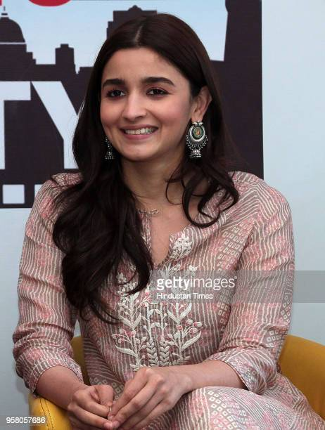 Bollywood actor Alia Bhatt during an exclusive interview with HT CityHindustan Times for the promotion of her upcoming movie 'Raazi' as part of stars...
