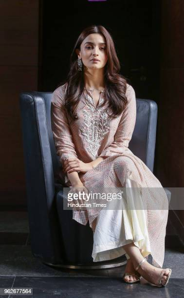 Bollywood actor Alia Bhatt during an interview with HT CityHindustan Times for the promotion of upcoming movie Raazi' on May 8 2018 in New Delhi...