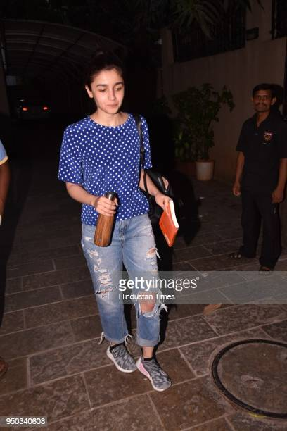 Bollywood actor Alia Bhatt spotted at Juhu on April 21 2018 in Mumbai India