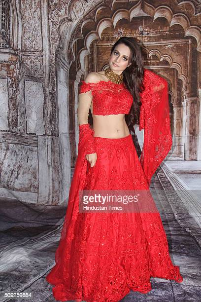 Bollywood actor Ameesha Patel during the Swarovski Gemstones National Jewellery Awards 201516 on February 6 2016 in Mumbai India
