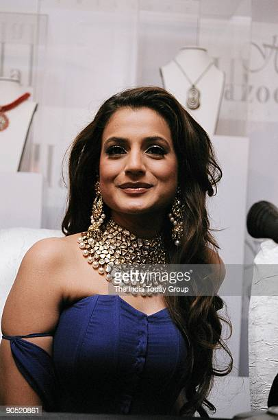Bollywood actor Amisha Patel during the launch of 'Desire' Hazoorilal's new jewellery line at The Grand New Delhi India