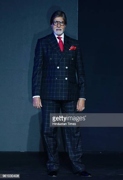 Bollywood actor Amitabh Bachchan at Oneplus 6 launch at Dome NSCI Worli on May 17 2018 in Mumbai India