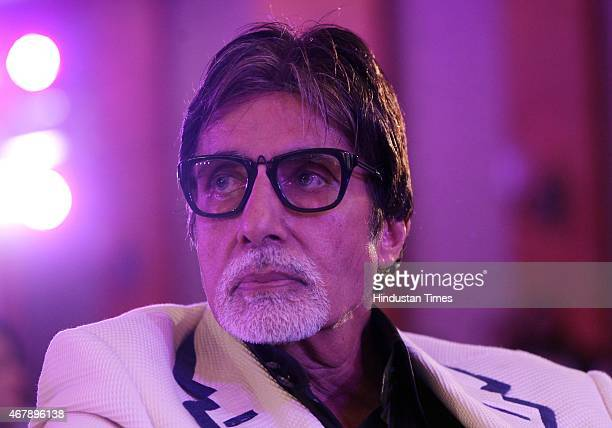 Bollywood actor Amitabh Bachchan during the Hindustan Times Mumbai's Most Stylish Awards 2015 at JW Mariott Hotel Juhu on March 26 2015 in Mumbai...