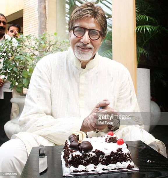 Bollywood actor Amitabh Bachchan poses at his residence on his 67th birthday in Mumbai on Sunday October 11 2009