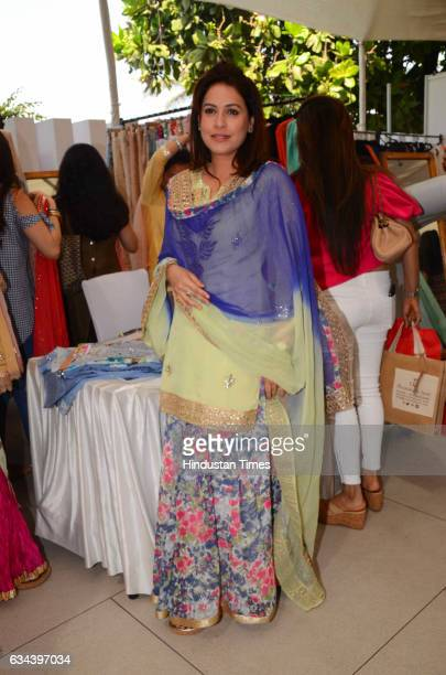 Bollywood actor Amrita Raichand during a Charity exhibition Araaish organised by Mana Shetty wife of actor Suniel Shetty at Blue Sea Worli on...