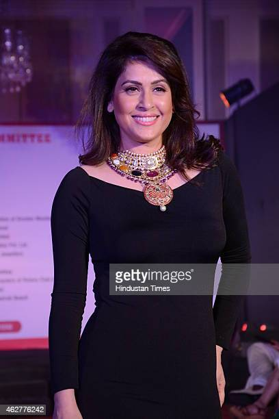 Bollywood actor Amrita Raichand during the glittering jewellery show by Poonam Soni for the Terry Fox cancer drive on February 3 2015 in Mumbai India