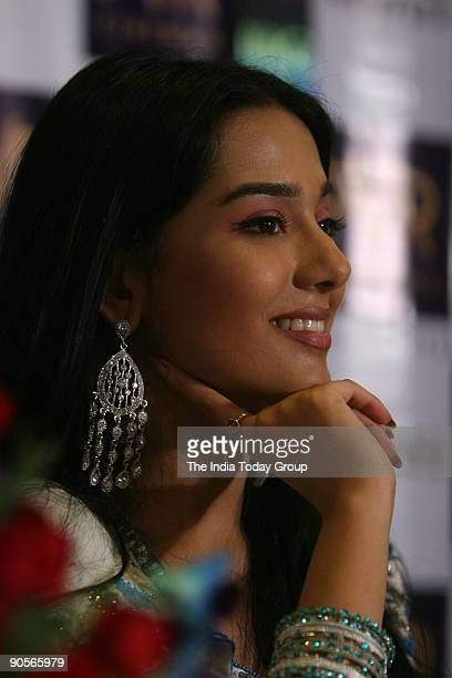 Bollywood actor Amrita Rao during a press conference of her new movie